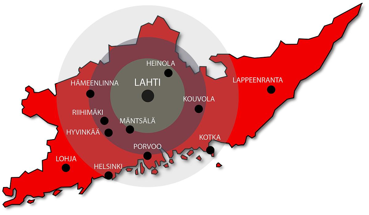 PT Rakennus toimii laajalla säteellä Etelä-Suomen alueella